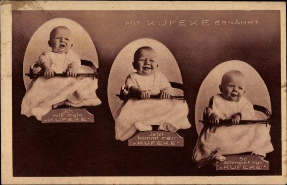 Ak Mit Kufeke ernährt, Kleinkind, Babynahrung, Reklame 0