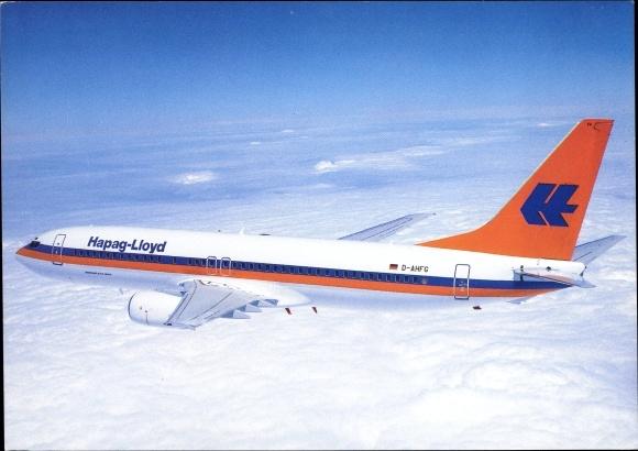Ak Deutsches Passagierflugzeug, Hapag Lloyd, D AHFG, Boeing 737 800