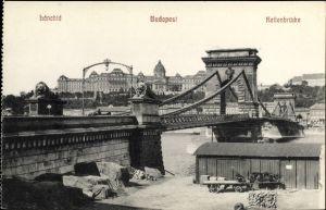 Ak Budapest Ungarn, Kettenbrücke, bánchid