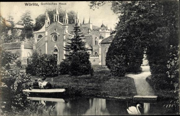 Ak Oranienbaum Wörlitz im Kreis Wittenberg, Gothisches Haus