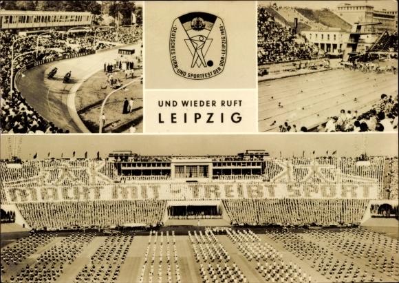 Ak Leipzig in Sachsen, Deutsches Turn- und Sportfest der DDR