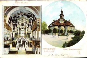 Ak Jelenia Góra Hirschberg Riesengebirge Schlesien, Gnadenkirche, Altar