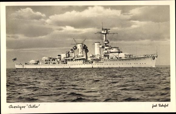Ak Deutsches Kriegsschiff, Kreuzer Köln