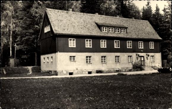 Ak Papstdorf Gohrisch in Sachsen, Pionierlager Klement Gottwald, Wirtschaftsgebäude