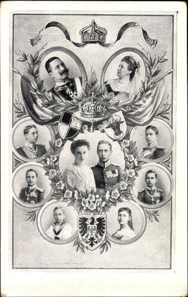 Ak Deutsches Kronprinzenpaar, Kronprinz Wilhelm von Preußen, Cecilie, Kaiserpaar