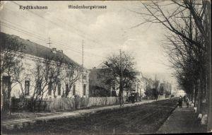 Ak Tschernyschewskoje EydtkauEydtkuhnen Ostpreußen, Wohnhäuser in der Hindenburgstraße