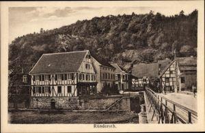 Ak Ründeroth Engelskirchen im Oberbergischen Kreis, Stadtansicht, Straßenpartie im Ort