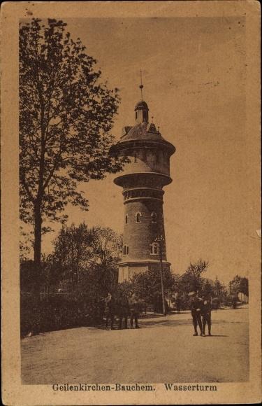 Ak Bauchem Geilenkirchen in Nordrhein Westfalen, Partie am Wasserturm
