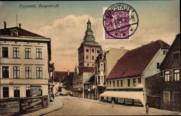 Ak Lippstadt im Kreis Soest Nordrhein Westfalen, Langestraße, Straßenpartie