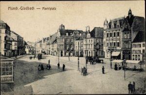 Ak Mönchengladbach Nordrhein Westfalen, Marktplatz