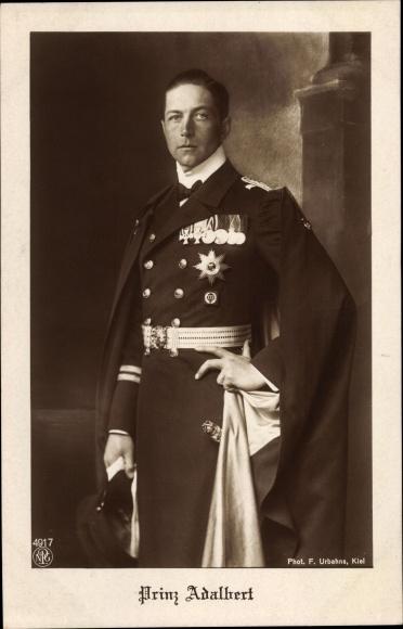 Ak Adalbert Prinz von Preußen, Portrait