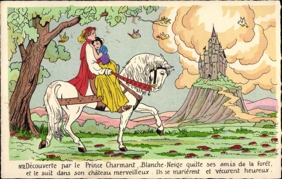 Künstler Ak Walt Disney, Schneewittchen und die sieben Zwerge, Prinz