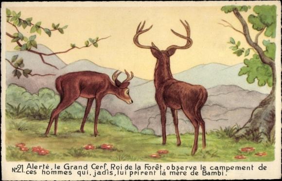 Künstler Ak Walt Disney, Rehe, Bambi