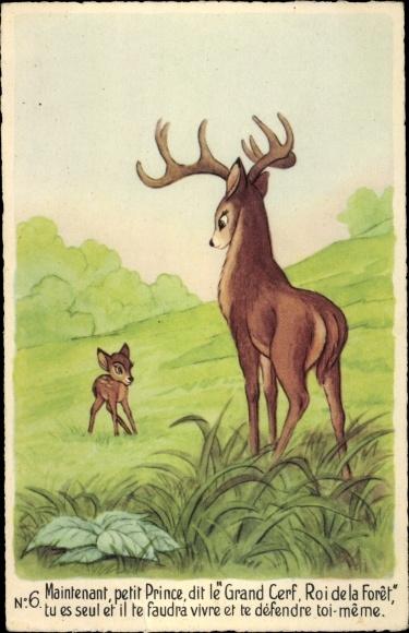 Künstler Ak Walt Disney, Bambi, Reh, Hirsch