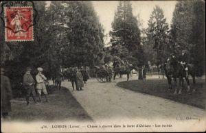 Ak Lorris Loiret, Chasse a courre dans la foret d'Orleans, Les invites, cheval