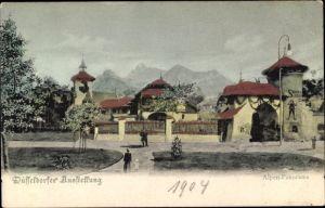 Ak Düsseldorf am Rhein, Alpenpanorama, Ausstellung