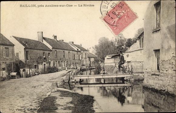 Ak Baillon Val d'Oise, La Rivière