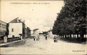 Ak Panissières Loire, Place de la Liberte