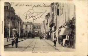 Ak Roanne Loire, Rue Nationale
