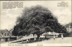 Ak Bordesholm in Schleswig Holstein, Alte Linde, Kinder