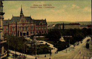 Ak Brno Brünn Südmähren, Deutsches Haus am Lazanskyplatz