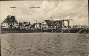 Ak Polessk Labiau Ostpreußen, Blick auf die Adlerbrücke
