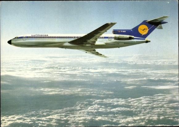 Ak Lufthansa B 727, Europa Jet, Passagierflugzeug im Flug