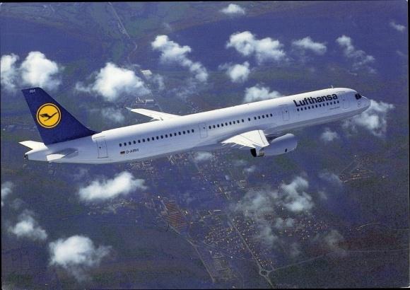Ak Airbus A321-100, Lufthansa, Passagierflugzeug