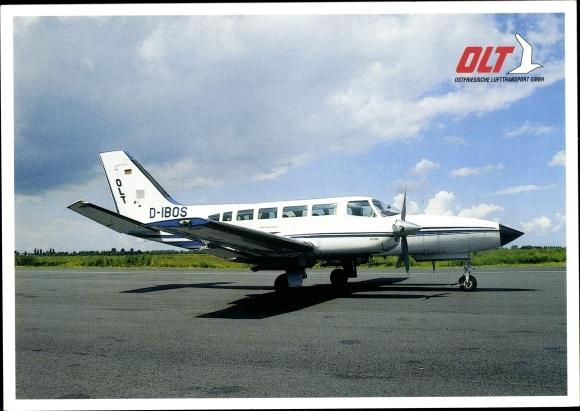 Ak Cessna 404, Ostfriesische Lufttransport GmbH, Passagierflugzeug, D-IBOS