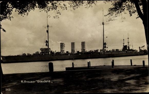 Ak Deutsches Kriegsschiff, Kleiner Kreuzer Graudenz, Reichsmarine