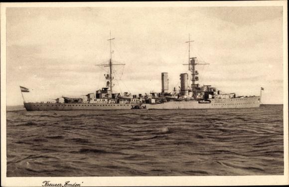 Ak Deutsches Kriegsschiff, Kreuzer Emden, Reichsmarine