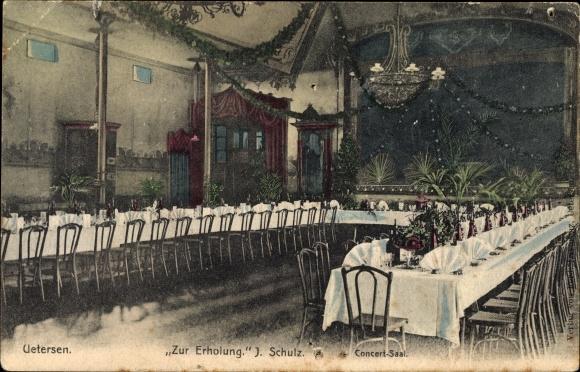 Ak Uetersen in Schleswig Holstein, Zur Erholung, Konzertsaal