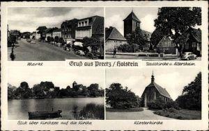 Ak Preetz in Schleswig Holstein, Stadtkirche, Altersheim, Klosterkirche, Kirchsee