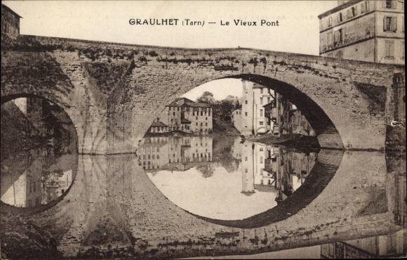 Ak Graulhet Tarn, Le Vieux Pont