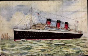 Künstler Ak Dampfschiff Ile de France, CGT, French Line, Paquebot
