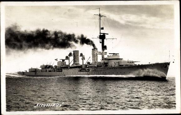 Ak Deutsches Kriegsschiff, Kreuzer Köln, Reichsmarine 0