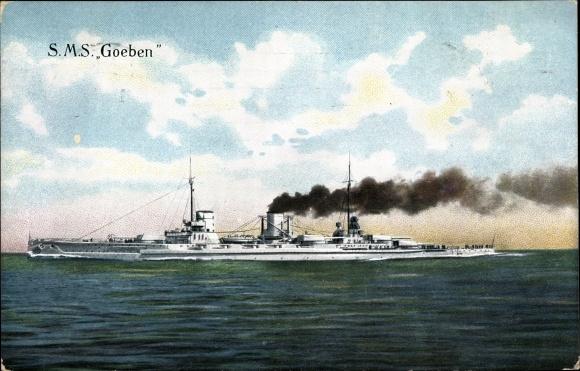 Ak Deutsches Kriegsschiff, SMS Goeben, Großer Kreuzer, Kaiserliche Marine, RKL 523