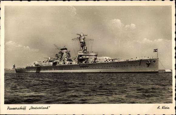 Ak Deutsches Kriegsschiff, Panzerschiff Deutschland 0
