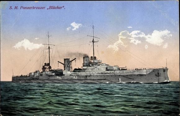 Ak Deutsches Kriegsschiff, SMS Blücher, Panzerkreuzer, Kaiserliche Marine 0