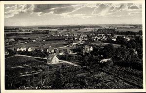 Ak Lütjenburg in Schleswig Holstein, Totalansicht der Ortschaft, Umgebung