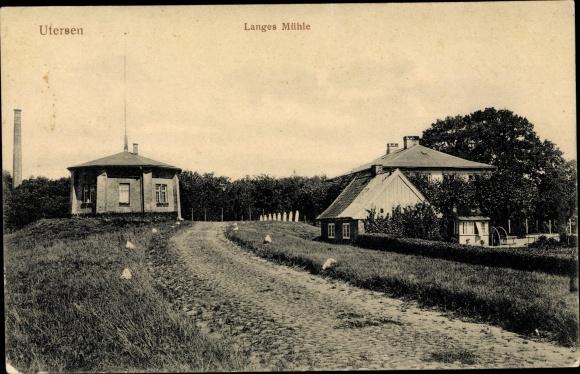 Ak Uetersen in Schleswig Holstein, Langes Mühle, Straßenansicht