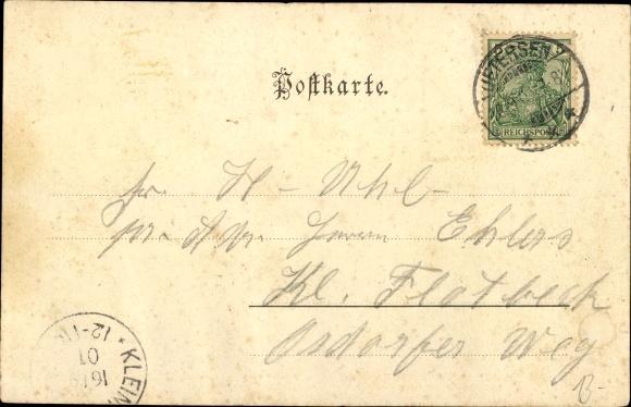 Ak Uetersen in Schleswig Holstein, Gasthof Stadt Altona, Straßenansicht 1