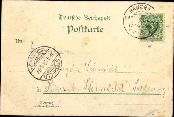 Litho Hanerau Hademarschen, Allee, Teichpartie, Park 1