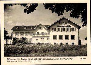 Ak Uffenheim in Mittelfranken Bayern, Bahnhofhotel, Haus der guten Übernachtung