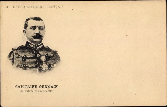 Ak Capitaine Germain, Mission Marchand, Explorateurs Francais