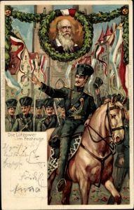 Ganzsachen Litho Nürnberg, X. Turnfest 1903, Lützower im Festzuge, Turnvater Jahn