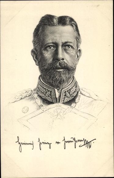 Künstler Ak Prinz Albert Wilhelm Heinrich von Preußen, Portrait