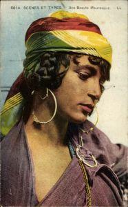 Ak Scenes et Types, Une Beaute Mauresque, Portrait, Araberin, Maghreb