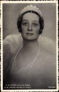 Ak SM Astrid, Reine des Belges, Astrid von Schweden, Königin von Belgien, Portrait