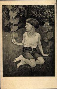Künstler Ak Hodler, Ferd., Knabe kniend, Studie zum Auserwählten